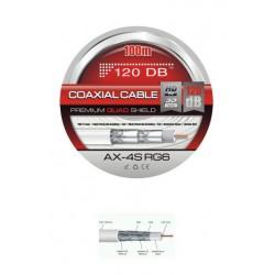 CABLE COAXIAL 120 DB´s - ALTA CALIDAD - 100 METROS