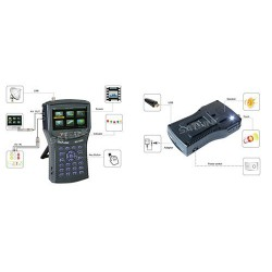 SATLINK WS-6932 HD With Spectrum 4.3 Inch LCD Screen
