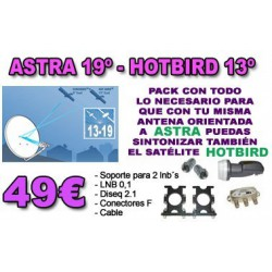 KIT ASTRA 19º - HOTBIRD 13º