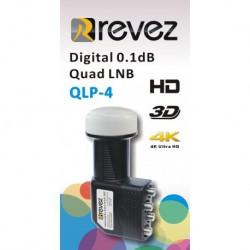 LNB QUAD REVEZ - QLP-4 - 0,1dB