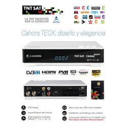 TNT SAT TDT FRANCIA Receptor TEOX HD USB PVR  + Tarjeta