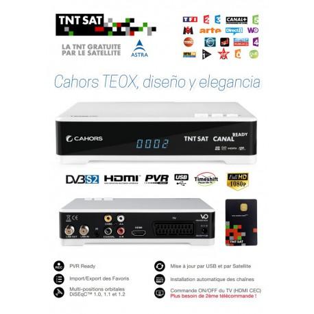 TNT SAT TDT FRANCIA - Tarjeta + Receptor TEOX HD USB PVR