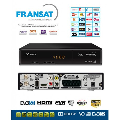 FRANSAT TNT FRANCE Receptor Strong HD PVR +Tarjeta