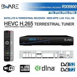 BWARE RX 8900 Combo HD DVB-S2 + DVB-T2 HEVC H.265