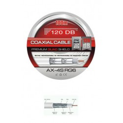 CABLE COAXIAL 120 DB´s - 100 METROS