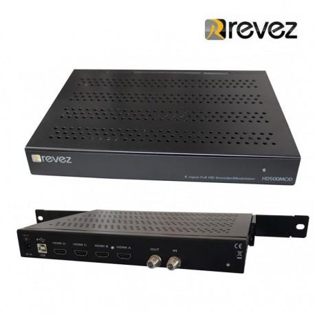 Modulador HD 4 entradas Revez HD500MOD HDMI DVB-T/C
