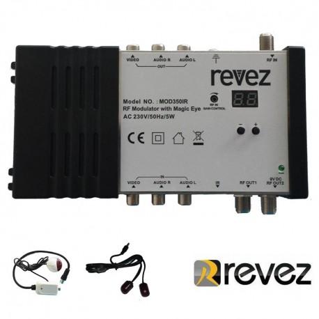 Modulador Revez MOD350IR con Magic Eye