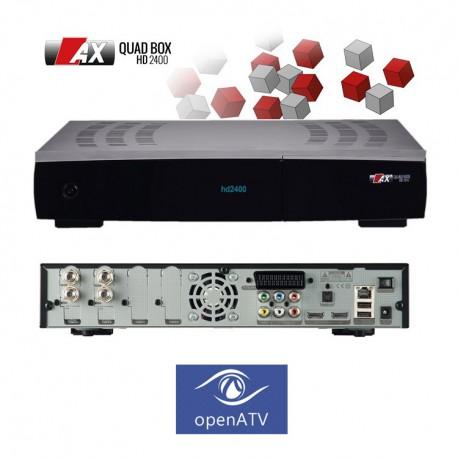 RED EAGLE QUADBOX HD2400 DOBLE DVB-2 TUNER WIFI