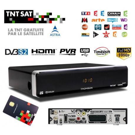 TNT SAT TDT FRANCIA - Tarjeta + Receptor HD USB PVR