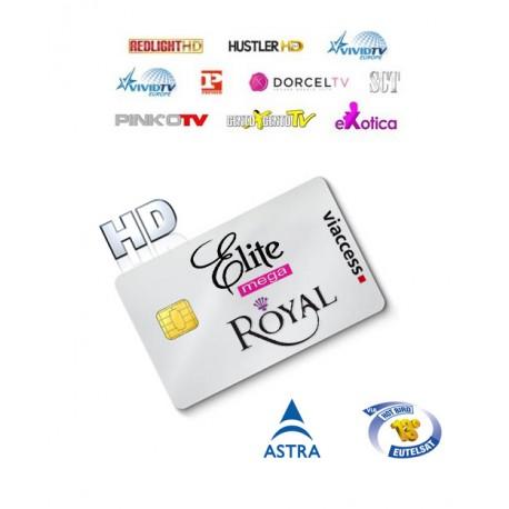 Mega Elite Royale HD Astra+Hotbird 19 Canales 1 Año