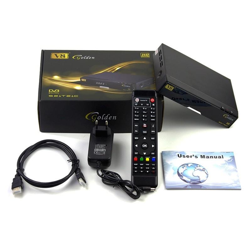 Freesat V8 Golden - Receptor SAT, TDT, cable e IPTV
