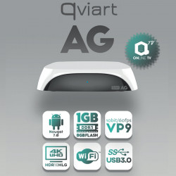 Qviart AG Android 7.0 4K UHD OTT Middleware and Media Box