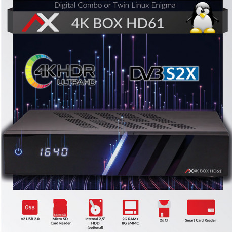AX 4K-BOX HD61 TWIN E2 LINUX