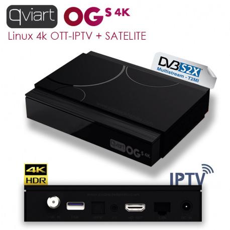 Qviart OGs 4K: IPTV + Satelite 4K