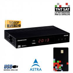 TNT SAT TDT FRANCIA Receptor DS81 HD USB PVR + Tarjeta