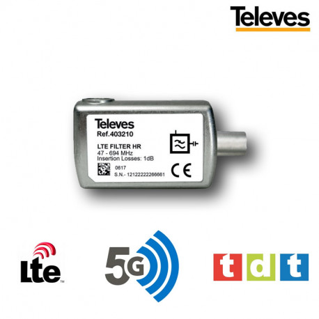 Filtro 5G LTE - Canal 21-48