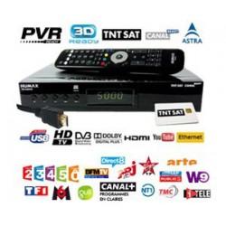 TNT SAT TDT FRANCIA - Tarjeta + Receptor HD con PVR HUMAX TN5000