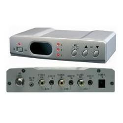 Modulador UHF ó VHF doméstico de interior, de 3 entradas A/V