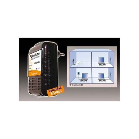 Adaptador PLC Ethernet Red Eléctrica (2 Unidades) 500 Mbps