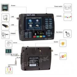 SATLINK WS-6951 DVB-S/S2 y camaras de seguridad