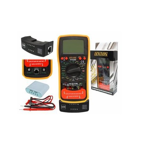 Lexton HY 5300 - Multimetro, SAT finder, RJ45 test