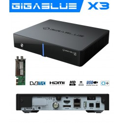 Gigablue HD X3 COMBO TWIN 750MHz Enigma2