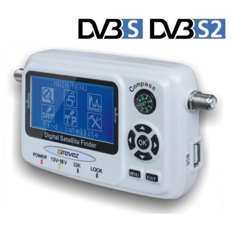 Programable Satfinder USB  DVB-S2 Revez SP55