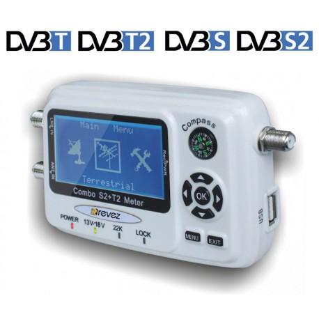 Programable Satfinder USB  DVB-S2+DVB-T2 Revez STC60