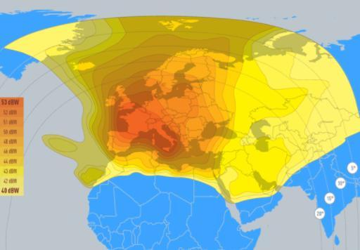 Haz de señal del satélite Eutelsat Hotbird 13ºEste