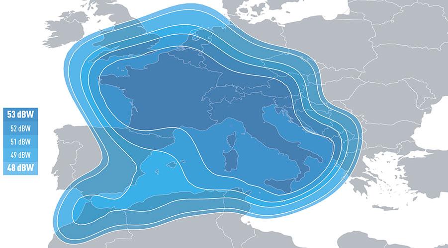 Cobertura Eutelsat 5ºO B
